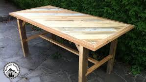 plan pour fabriquer un bureau en bois fabrication d une table solide avec du bois de récupération