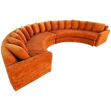 mid century modern orange velvet semi circle sofa at 1stdibs