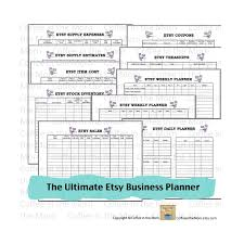 etsy business planner expense tracker to do list inventory pdf
