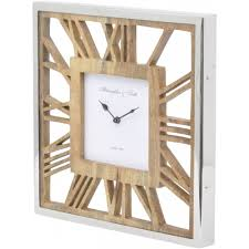 Wooden Wall Clock Square Wooden Ghost Wall Clock Decorum