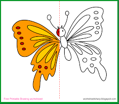 free drawing worksheets printable butterfly drawing worksheets