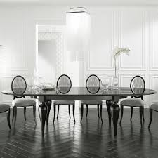large oval extendable italian designer dining table juliettes