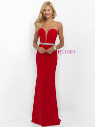 plunging neckline blush prom strapless plunging neckline 11010 dress dressprom net