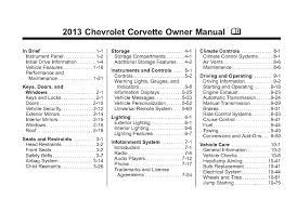 corvette world articles 2013 corvette owners manual free pdf
