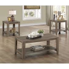 k u0026 b furniture t84 3 piece cocktail and end table set merlot