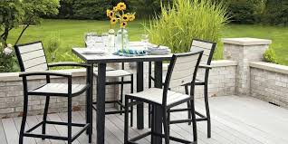 Pub Height Patio Table Patio Furniture Bar Height Chairs Mad American Recycled Outdoor
