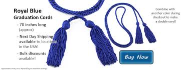 graduation cord royal blue graduation cords from honors graduation