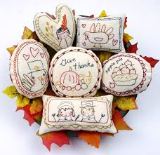 thanksgiving 8 embroidery designs ornaments bowl fillers