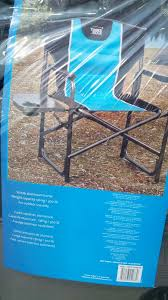 Folding Directors Chair With Side Table Timber Ridge Director U0027s Chair With Side Table Costco Weekender