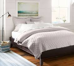 Leather Platform Bed Fillmore Leather Platform Bed Pottery Barn