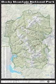 Colorado Mountain Map by Amazon Com Rocky Mountain National Park 24
