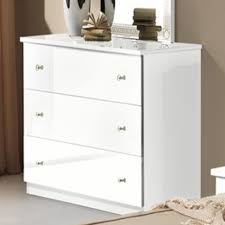 commode chambre blanc laqué commode 3 tiroirs athena chambre a coucher blanc concernant commode