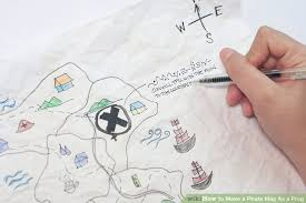 4 ways to make a pirate map as a prop wikihow