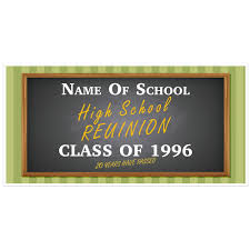 high school reunion banners high school class reunion custom party banner paper blast
