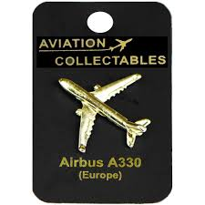 a330 gold pin badge