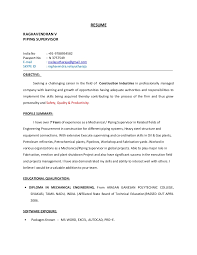 Diploma In Civil Engineering Resume Sample by Piping Supervisor Resume