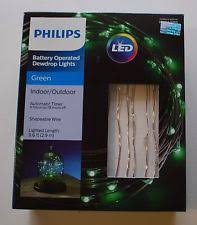 Outdoor Timer For Lights by Philips Battery 30ct Dewdrop Micro Led Fairy String Lights Green