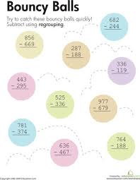 subtraction subtraction with regrouping practice worksheets