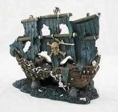 sunken pirate ghost ship 1521 aquarium ornament fish tank