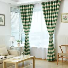 online get cheap green striped curtains aliexpress com alibaba