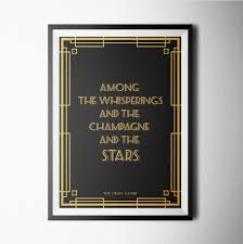 the great gatsby poster print minimal blackandwhite