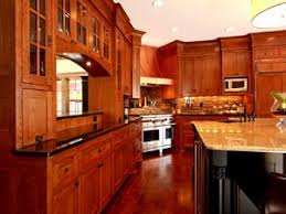Red Mahogany Kitchen Cabinets Dark Cherry Wood Kitchen Cabinets Beige Granite Kitchen