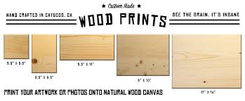 custom printing wood prints cayucos collective