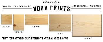 wood print custom printing wood prints cayucos collective