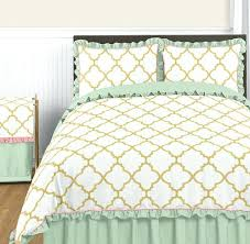 Black And Gold Crib Bedding White And Gold Bedding Gold Mint Coral And White