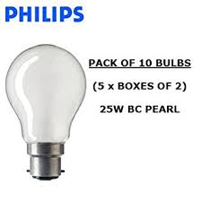 philips classictone 25w a55 b22 bc fitting pearl light bulbs