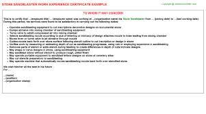 stone sandblaster job title docs