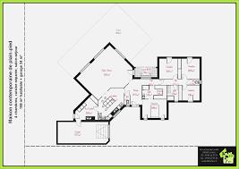 plan 4 chambres plain pied plan de maison contemporaine 4 chambres mobokive org