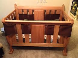 Convertible Baby Crib Plans by Drew U0027s Sleigh Crib The Wood Whisperer