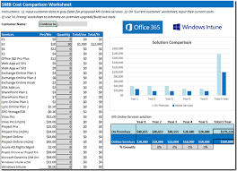 Spreadsheet Comparison Tool Version Of The Office 365 Cost Comparison Worksheet Welcome