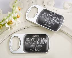 wedding favors unlimited personalized eat drink be married silver bottle opener wedding