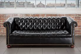 the etton black chesterfield sofa pieces by violet vintage