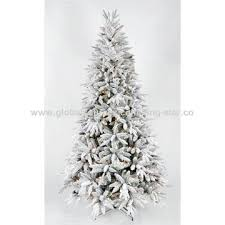 china 7 lighted artificial snowing tree with warm