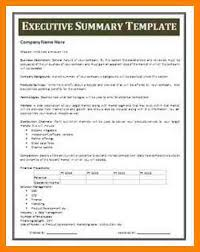 sample executive summary template great resume summary statements