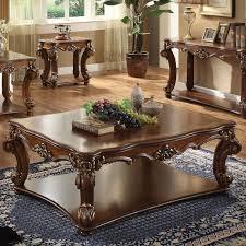 acme furniture vendome rectangular coffee table in cherry local