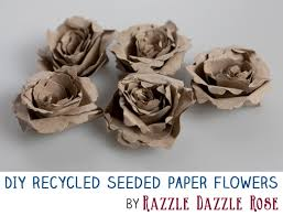 seeded paper diy project how to make handmade recycled seeded paper flowers