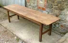 Pine Table Long French Rustic Pine Table C 1890 Loveantiques Com