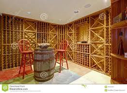 cave a vin sous sol intérieur de cave dans la chambre de sous sol photo stock image