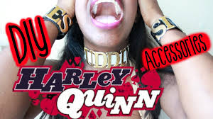 harley quinn squad choker diy cosplay youtube