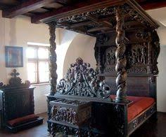 Bran Castle Interior Beautiful Bed From Bran Castle The Home Of Dracula Vlad The