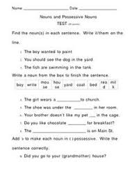 unit 2 grammar possessive nouns worksheet lesson planet