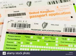 passport application forms for both republic of ireland eire