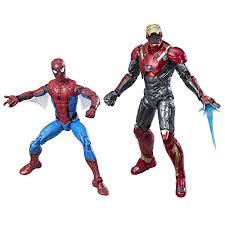 marvel legends spiderman homecoming spiderman u0026 ironman