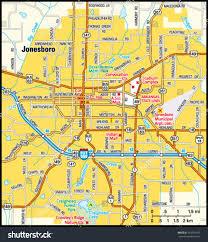 map of jonesboro ar jonesboro arkansas area map stock vector 163970192