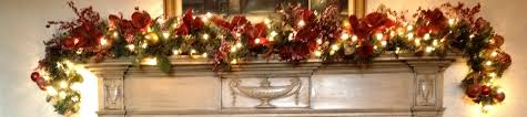 lighted christmas garland for mantle christmas lights decoration