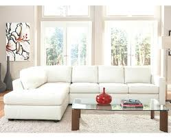 2264b modern white leather sectional sofa with lights small great
